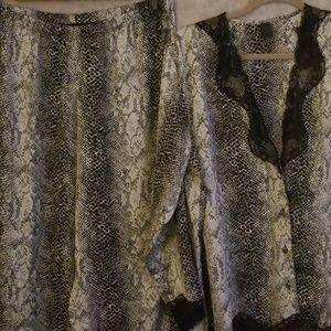 Frederick's of Hollywood Animal print Pajamas